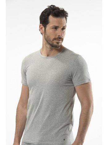 Cacharel - O yaka kısa kollu t-shirt 1305/GRİ
