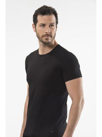 Cacharel - O yaka kısa kollu t-shirt 1305/SİYAH