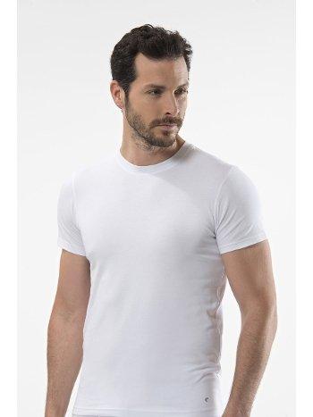 Cacharel - O yaka kısa kollu t-shirt 1307/BEYAZ