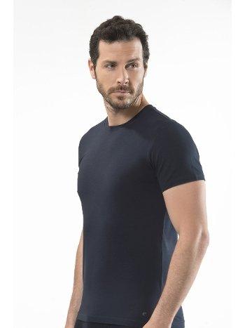 Cacharel - O yaka kısa kollu t-shirt 1307/LACİVERT