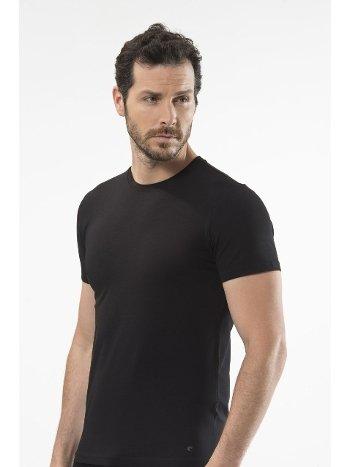 Cacharel - O yaka kısa kollu t-shirt 1307/SİYAH