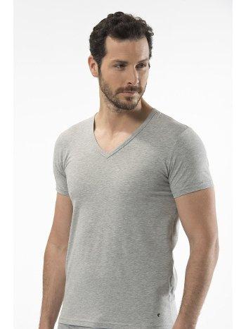 Cacharel - V yaka kısa kollu t-shirt 1306/GRİ