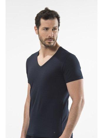 Cacharel - V yaka kısa kollu t-shirt 1306/LACİVERT