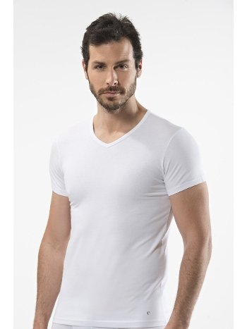 Cacharel - V yaka t-shirt 1402/BEYAZ