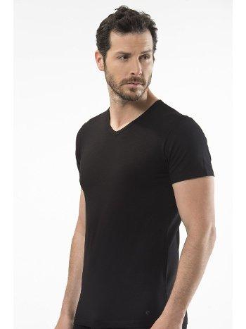 Cacharel - V yaka t-shirt 1402/SİYAH