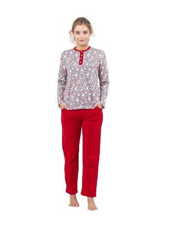 Patlı Pijama Takım Çift Kaplan 7717