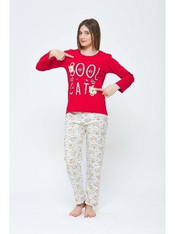 Cool KCats Kışlık Penye Pijama Takımı Estiva 20301