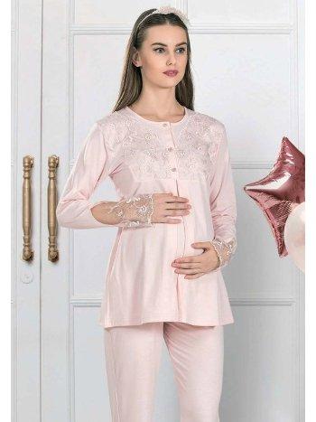 Dantel Detaylı Hamile Pijama Takım FLZ 24-345
