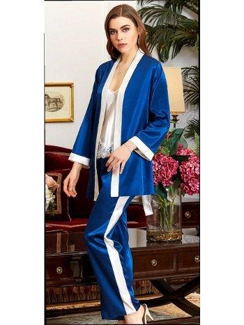 Dantelli 3'lü Askılı Pijama Takım Jeremi 3071