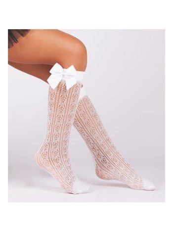 Daymod ORİETTA Fiyonk Aksesuarlı Çocuk Diz Altı Çorap D2222008