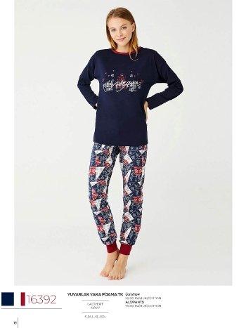 Desenli Yüzde 100 Pamuk Pijama Takım US Polo 16392