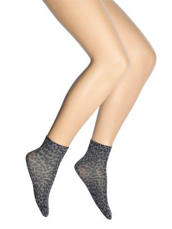 Dore Leopar Desenli Soket Çorap