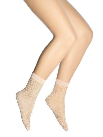 Dore Petek Desenli Mikro Soket Çorap