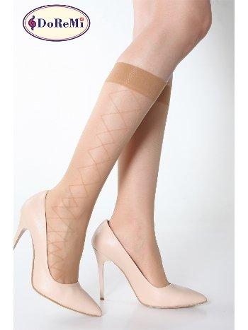 DoReMi Estelle Desenli Dizaltı Çorap