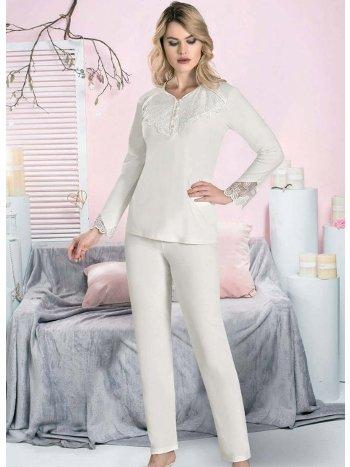 Düğmeli Kışlık Pijama Takımı FLZ 89-451