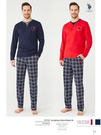 Ekose Pijama Takım US Polo Assn 18338