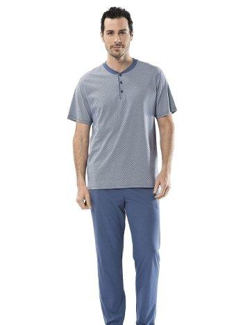 Eprime Patlı Kısa Kollu Pijama Takım Türen 4102/İNDİGO