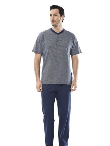 Eprime Patlı Kısa Kollu Pijama Takım Türen 4102/LACİVERT