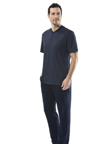 Eprime Patlı Kısa Kollu Pijama Takım Türen 4106/LACİVERT