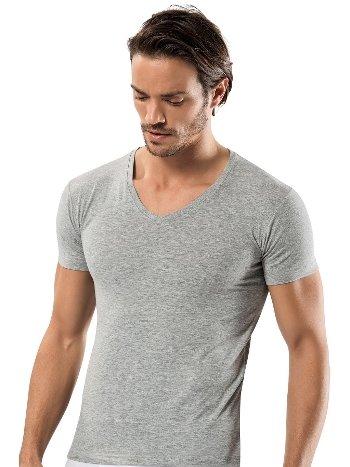 Pamuk Elastan V Vaka Erkek T-Shirt -3 lü Paket Erdem 1119