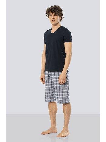 Erkek Bermuda Şort & T-shirt Takım Cacharel 2188/LACİVERT