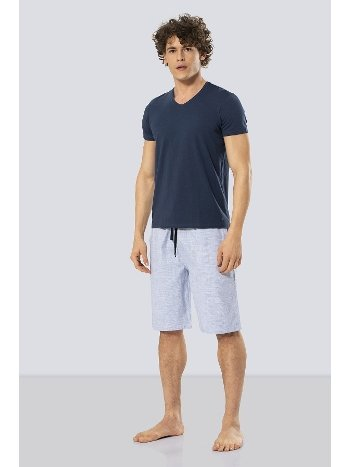 Erkek Bermuda Şort & T-shirt Takım Cacharel 2191/MAVİ