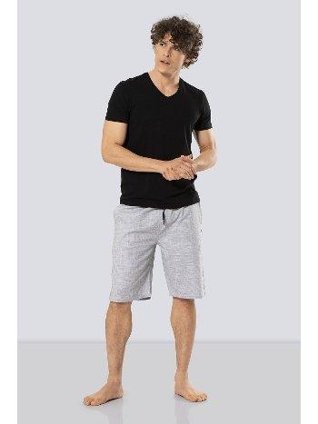 Erkek Bermuda Şort & T-shirt Takım Cacharel 2191/SİYAH