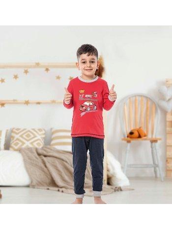 Erkek Çocuk Uzun Kollu Penye Pijama Takım 32003-A Öztaş
