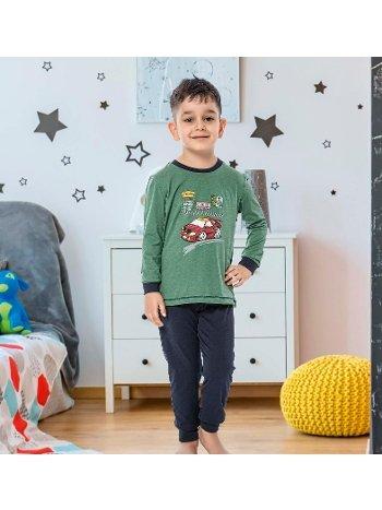 Erkek Çocuk Uzun Kollu Penye Pijama Takım 32007-A Öztaş