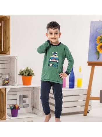 Erkek Çocuk Uzun Kollu Penye Pijama Takım 32011-A Öztaş
