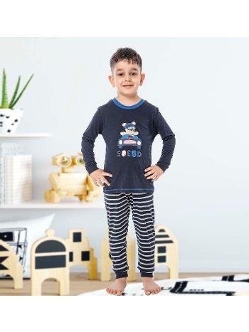 Erkek Çocuk Uzun Kollu Penye Pijama Takım 32012-A Öztaş