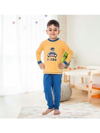 Erkek Çocuk Uzun Kollu Penye Pijama Takım 32014-A Öztaş