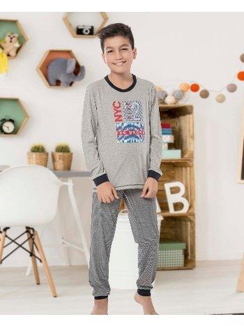 Erkek Çocuk Uzun Kollu Penye Pijama Takım 32018-A Öztaş