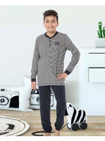 Erkek Çocuk Uzun Kollu Penye Pijama Takım 32019-A Öztaş