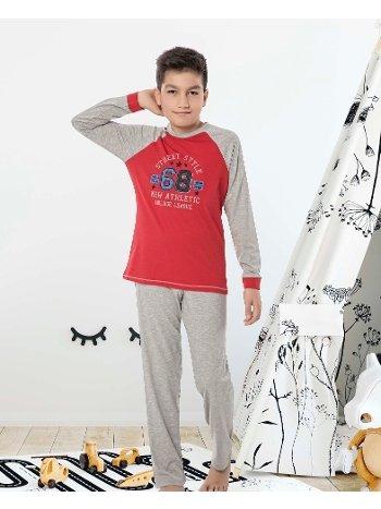 Erkek Çocuk Uzun Kollu Penye Pijama Takım 32020-A Öztaş