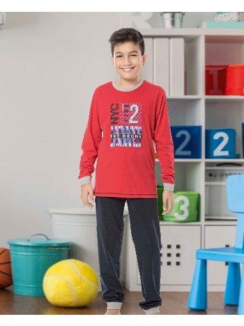 Erkek Çocuk Uzun Kollu Penye Pijama Takım 32024-A Öztaş