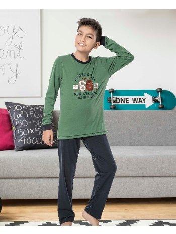Erkek Çocuk Uzun Kollu Penye Pijama Takım 32026-A Öztaş