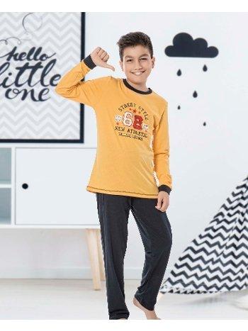 Erkek Çocuk Uzun Kollu Penye Pijama Takım 32029-A Öztaş