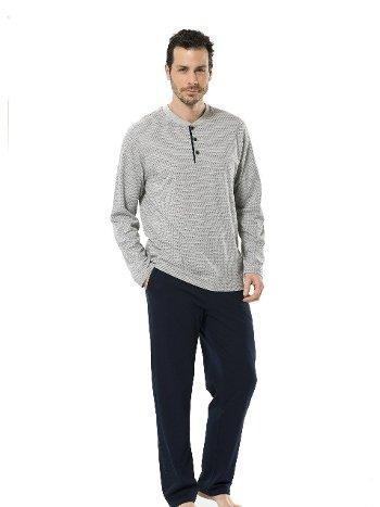 Emprime Patlı Uzun Kol Pijama Takım Türen 4124/GRİ