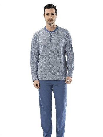Emprime Patlı Uzun Kollu Pijama Takım Türen 4101/İNDİGO