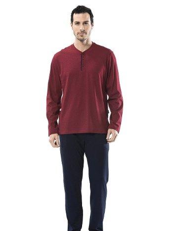 Emprime Patlı Uzun Kollu Pijama Takım Türen 4105/BORDO