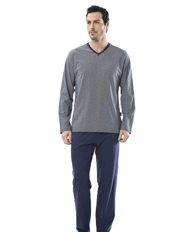Emprime V Yaka Uzun Kollu Pijama Takım Türen 4103/LACİVERT