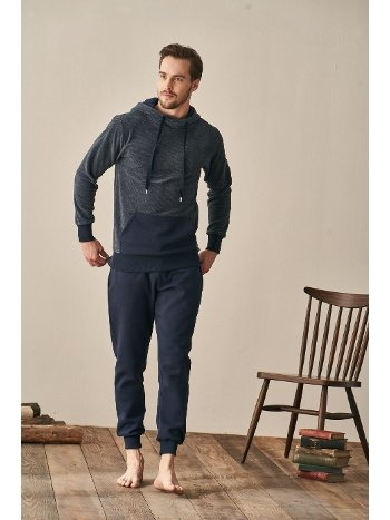 Erkek Kapşonlu Pijama Takımı Feyza 3939