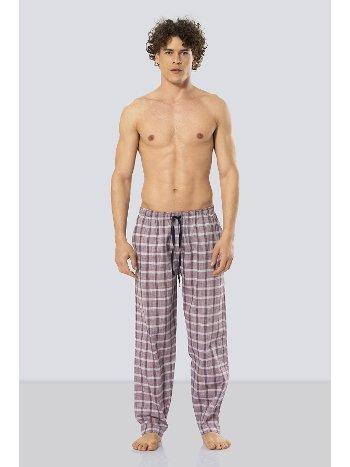 Erkek Kareli Tek Alt Pijama Cacharel 2179/BORDO