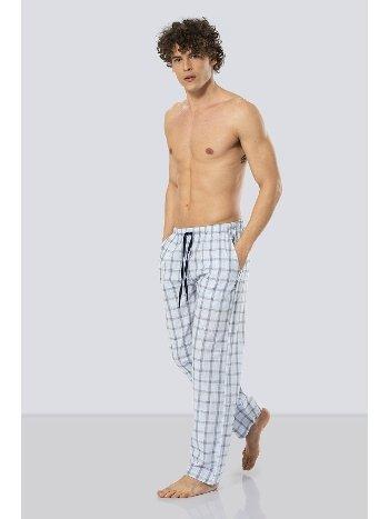 Erkek Kareli Tek Alt Pijama Cacharel 2179/MAVİ