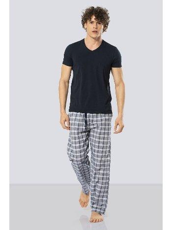 Kısa Kollu Poplin Pijama Takım Cacharel 2184/LACİVERT