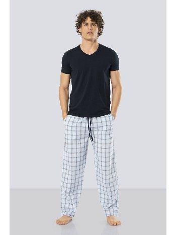 Kısa Kollu Poplin Pijama Takım Cacharel 2184/MAVİ