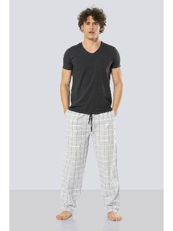 Erkek Kısa Kollu Poplin Pijama Takım Cacharel 2185/OLIVE