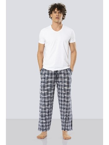 Erkek Kısa Kollu Poplin Pijama Takım Cacharel 2186/LACİVERT