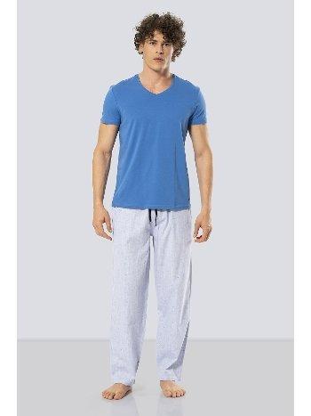 Kısa Kollu Poplin Pijama Takım Cacharel 2187/AÇIKMAVİ
